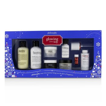 PhilosophyGlowing All The Way Kit Cleanser x 2 Moisturizer x 2 Peel x 2 Serum Activator 8pcs