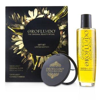 Купить The Original Beauty Ritual Подарочный Набор в Ограниченной Версии: Original Эликсир 100мл + Компактное Зеркало 2pcs, Orofluido