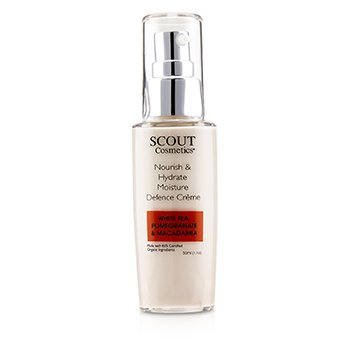 SCOUT CosmeticsNourish Hydrate Moisture Defence Creme with White Tea, Pomegranate Macadamia 50ml 1.7oz