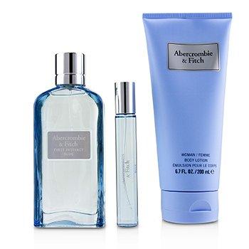 Купить First Instinct Blue Набор: Парфюмированная Вода Спрей 100мл/3.4унц + Лосьон для Тела 200мл/6.7унц + Парфюмированная Вода Спрей 15мл/0.5унц 3pcs, Abercrombie & Fitch