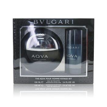 Купить Aqva Pour Homme Набор: Туалетная Вода Спрей 100мл/3.4унц + Дезодорант Стик 75мл/2.7унц 2pcs, Bvlgari