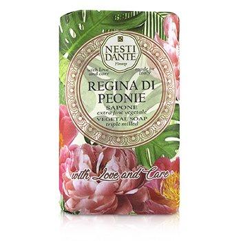 Купить With Love & Care Растительное Мыло Тройного Помола - Regina Di Peonie 250g/8.8oz, Nesti Dante