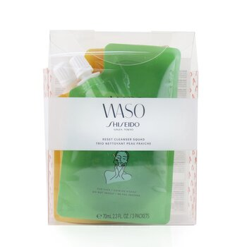 Купить Waso Reset Очищающий Набор: 1x Wild Garden 70мл + 1x Romantic Dream 70мл + Good Vibes 70мл 3x70ml/2.3oz, Shiseido