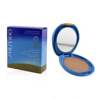 Купить УФ Защитная Компактная Основа SPF30 (Футляр+Запасной Блок) - # SP20 Light Beige 12g/0.42oz, Shiseido