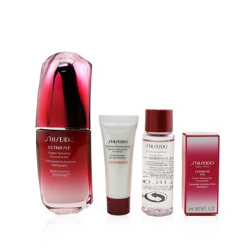 Купить Skin Defense Program Набор: Ultimune Power Infusing Концентрат 50мл + Очищающая Пенка 15мл + Смягчающее Средство 30мл + Концентрат для Глаз 3мл 4pcs, Shiseido