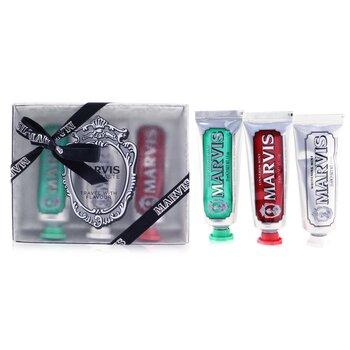 Купить Дорожный Набор: 1xClassic Strong Mint Зубная Паста+1xWhitening Mint Зубная Паста+1xCinnamon Mint Зубная Паста 3pcs, Marvis