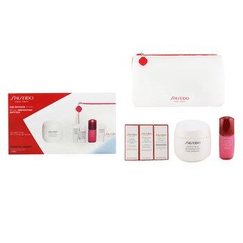 Купить Age Defense Ritual Essential Energy Набор (для Всех Типов Кожи): Увлажняющий Крем 50мл + Очищающая Пенка 5мл + Насыщенное Смягчающее Средство 7мл + Ultimune Концентрат 10мл + Средство для Век 5мл 5pcs+1pouch, Shiseido