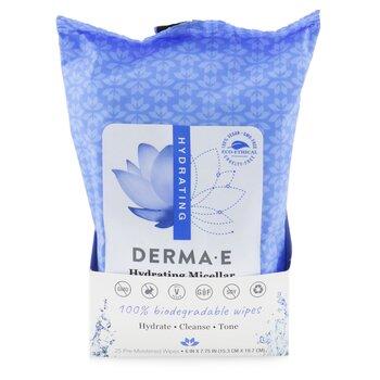Купить Увлажняющие Мицеллярные Очищающие Салфетки 25wipes, Derma E