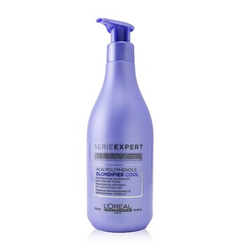Купить Professionnel Serie Expert - Blondifier Cool Acai Polyphenols Neutralising Shampoo (For Cool Blonde Hair) 500ml/16.9oz, L'Oreal