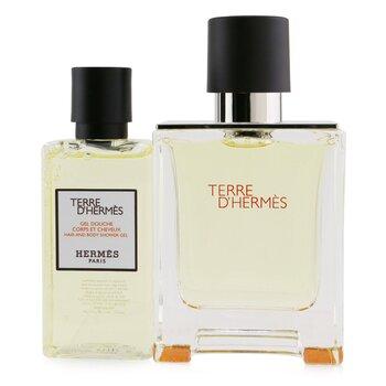 Купить Terre D'Hermes Coffret: Eau De Toilette Spray 50ml/1.6oz + Hair And Body Shower Gel 40ml/1.35oz