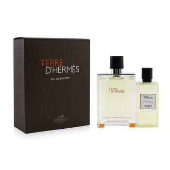 Купить Terre D'Hermes Coffret: Eau De Toilette Spray 100ml/3.3oz + Hair And Body Shower Gel 80ml/2.7oz