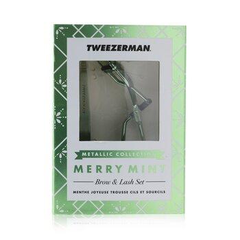 Купить Merry Mint Набор для Бровей и Ресниц (Metallic Collection) 2pcs, Tweezerman