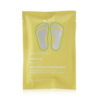 Купить Warm Up Best Foot Forward - Смягчающая Маска для Ступней и Пяток (1 Средство) 2x9g/0.3oz, Patchology