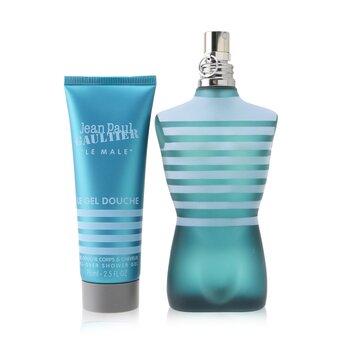 Купить Le Male Coffret: Eau De Toilette Spray 125ml/4.2oz + All-Over Shower Gel 75ml/2.5oz (Round Tin Box) 2pcs, Jean Paul Gaultier
