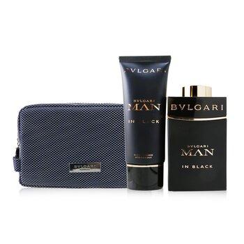 In Black Coffret: Eau De Parfum Spray 100ml/3.4oz + After Shave Balm 100ml/3.4oz + Pouch 2pcs+Pouch
