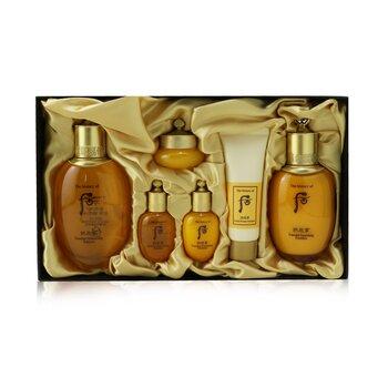 Купить Gongjinhyang Essential Set: Balancer (150ml+20ml) + Emulsion (110ml+20ml) + Cream 10ml + Cleanser 40ml 6pcs, Whoo (The History Of Whoo)