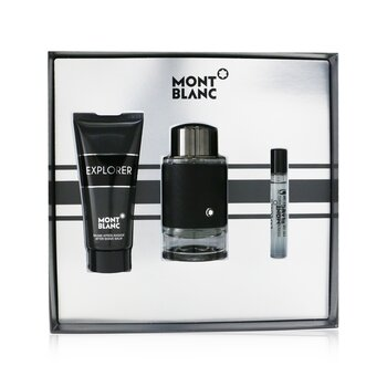 Купить Explorer For Men Coffret: Eau De Parfum Spray 100ml + Eau De Parfum Spray 7.5ml + After Shave Balm 100ml 3pcs, Montblanc