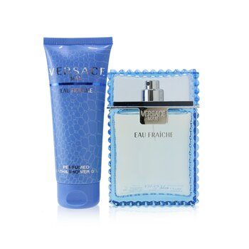 Купить Eau Fraiche Coffret: Eau De Toilette Spray 100ml/3.4oz + Perfumed Bath & Shower Gel 100ml/3.4oz 2pcs, Versace