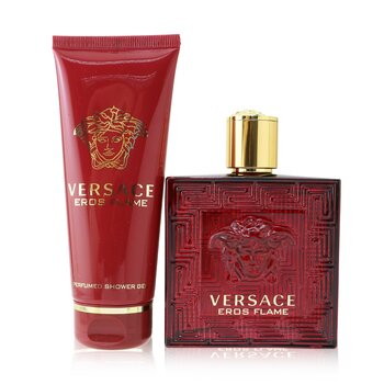 Купить Eros Flame Coffret: Eau De Parfum Spray 100ml/3.4oz + Shower Gel 100ml/3.4oz 2pcs, Versace