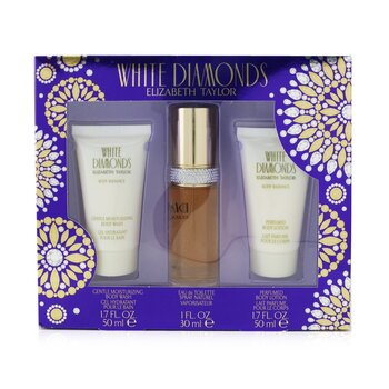 Купить White Diamonds Coffret: Eau De Toilette Spray 30ml/1.0oz + Body Lotion 50ml/1.7oz + Body Wash 50ml/1.7oz 3pcs, Elizabeth Taylor