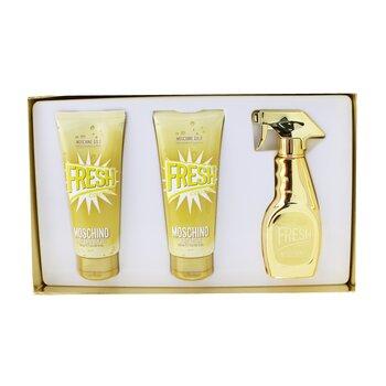 Купить Gold Fresh Couture Coffret: Eau De Parfum Spray 50ml/1.7oz + The Freshest Body Lotion 100ml/3.4oz + The Freshest Bath & Shower Gel 100ml/3.4oz 3pcs, Moschino