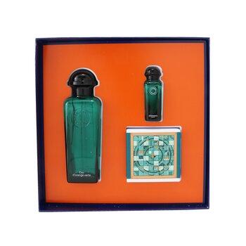 Купить D'Orange Verte Coffret: Eau De Cologne Spray 100ml/3.3oz + Eau De Cologne 7.5ml/0.25oz + Perfumed Soap 50g/1.7oz 3pcs, Hermes