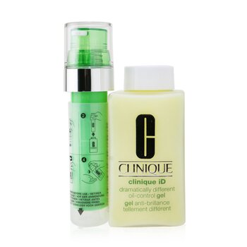 Clinique iD Dramatically Different Oil-Control Gel + Active Cartridge Concentrate For Delicate Skin 125ml/4.2oz  - Купить