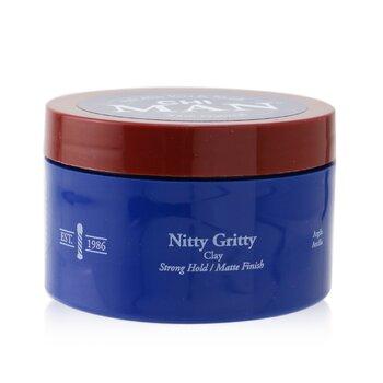 Купить Man Nitty Gritty Глина для Укладки (Сильная Фиксация/Матовый Результат) 85g/3oz, CHI