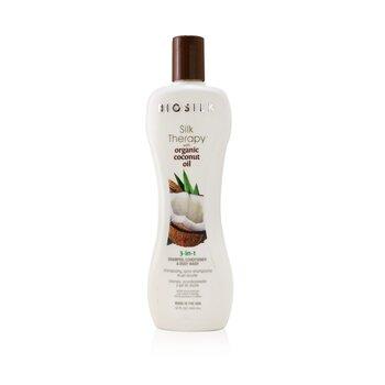 Купить Silk Therapy with Coconut Oil 3-In-1 Shampoo, Conditioner & Body Wash 355ml/12oz, BioSilk