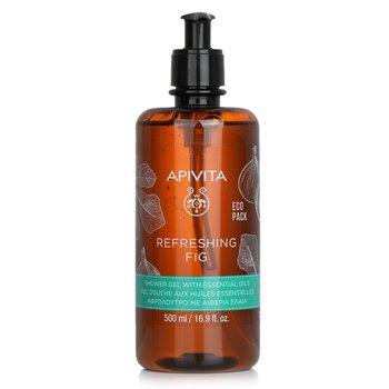 Купить Refreshing Fig Shower Gel with Essential Oils - Ecopack 500ml/16.9oz, Apivita