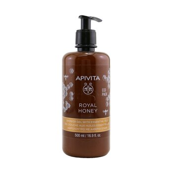 Купить Royal Honey Creamy Shower Gel With Essential Oils - Ecopack 500ml/16.9oz, Apivita