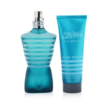 Купить Le Male Coffret: Eau De Toilette Spray 75ml/7.5oz + All Over Shower Gel 75ml/2.5oz 2pcs, Jean Paul Gaultier