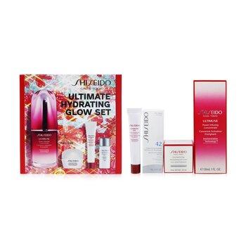 Купить Ultimate Hydrating Glow Set: Ultimune Power Infusing Concentrate 30ml + Moisturizing Gel Cream 10ml + Eye Concentrate 5ml + SPF 42 Sunscreen 7ml 4pcs, Shiseido