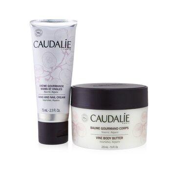 Купить Cocooning Body Care Set: Vine Body Butter 225ml/7.6oz + Hand and Nail Cream 75ml/2.5oz 2pcs, Caudalie