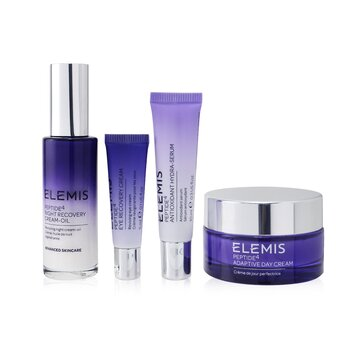 Купить Peptide 24/7 High Performers Set: Adaptive Day Cream 50ml+ Night Recovery Cream-Oil 30ml+ Hydra-Serum 10ml+ Eye Cream 5ml 4pcs, Elemis
