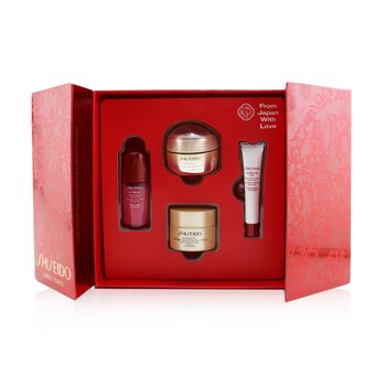 Купить Velvety Eye Delights Набор: Benefiance Крем для Век 15мл + Ultimune Концентрат 10мл + Benefiance Дневной Крем SPF 23 30мл + Ultimune Концентрат для Глаз 5мл 4pcs, Shiseido