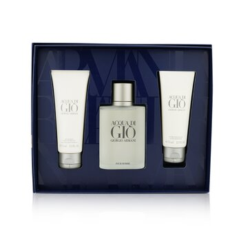 Купить Acqua Di Gio Coffret: Eau De Toilette Spray 100ml/3.4oz + All Over Body Shampoo 75ml/2.5oz + After Shave Balm 75ml/2.5oz 3pcs, Giorgio Armani