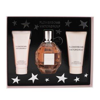 Купить Flowerbomb Coffret: Eau De Parfum Spray 100ml/3.4oz + Body Cream 40ml/1.36oz + Shower Gel 50ml/1.7oz (Box Slightly Damaged) 3pcs, Viktor & Rolf