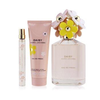 Купить Daisy Eau So Fresh Coffret: Eau De Toilette Spray 125ml/4.2oz + Radiant Body Lotion 75ml/2.5oz + Eau De Toilette Spray 10ml/0.33oz 3pcs, Marc Jacobs