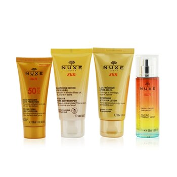 Купить Nuxe Sun My Summer Ritual Coffret: Melting Cream High Protection For Face SPF 50 30ml/1oz + After-Sun Hair & Body Shampoo 50ml/1.6oz + Refreshing After-Sun Lotion For Face & Body 50ml/1.6oz + Delicious Fragrant Water Spray 30ml/1oz