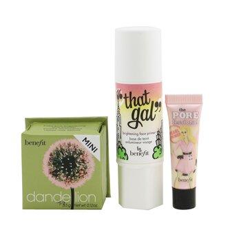 Купить Pinks Charming Set (1x That Gal Primer, 1x Mini The Porefessional Pearl Primer, 1x Mini Face Powder) 3pcs, Benefit