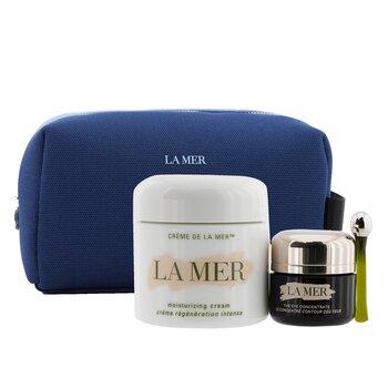 The Perfect Pair Set: Moisturizing Cream 60ml + Eye Concentrate 15ml + Bag (Unboxed) 2pcs+1bag, La Mer  - Купить