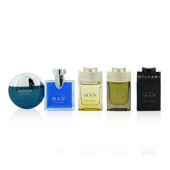Купить The Men's Gift Collection: Man In Black EDP, Man Wood Essence EDP, Man Wood Neroli EDP, Aqva EDT, Blv EDT 5x5ml/0.17oz, Bvlgari