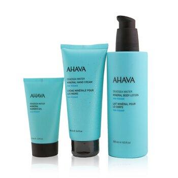 Купить Sea-Kissed Mineral Delights Set: Mineral Body Lotion 250ml+ Mineral Hand Cream 100ml+ Mineral Shower Gel 40ml 3pcs, Ahava