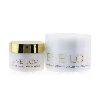 Купить Begin & End Ornament Travel Set: Cleansing Oil Capsules 7x1.25ml/0.04oz + Moisture Cream 8ml/0.26oz 2pcs, Eve Lom