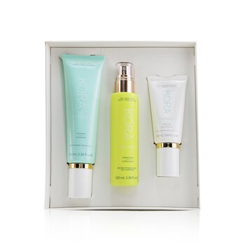 Купить 3 Step System - Oily/Combination Skin: Foaming Cleanser 100ml+ Energizing Citrus Mist 100ml+ Purifying Moisturizer 50ml 3pcs, Kora Organics