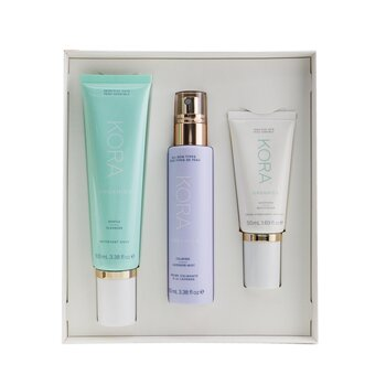Купить 3 Step System - Sensitive Skin: Gentle Cleanser 100ml + Calming Lavender Mist 100ml + Soothing Moisturizer 50ml 3pcs, Kora Organics