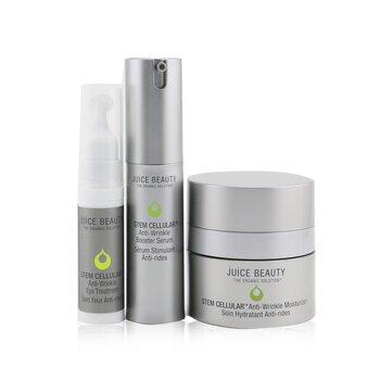 Купить Anti-Wrinkle Solutions Set: 1x Stem Cellular Anti-Wrinkle Moisturizer - 15ml/0.5oz + 1x Stem Cellular Anti-Wrinkle Booster Serum - 15ml/0.5oz + 1x Stem Cellular Anti-Wrinkle Eye Treatment - 7.5ml/0.25oz 3pcs, Juice Beauty