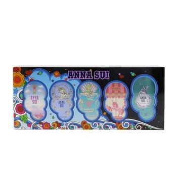 Купить Miniature Coffret: Secret Wish 5ml + Sky 5ml +Fantasia 5ml + Fantasia Mermaid 5ml + Fantasia Forever 5ml 5x5ml/0.17oz, Anna Sui