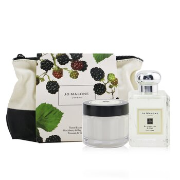 Купить Blackberry & Bay Travel Kit: Cologne Spray 50ml/1.7oz + Body Cream 50ml/1.7oz + Pouch 2pcs+Pouch, Jo Malone